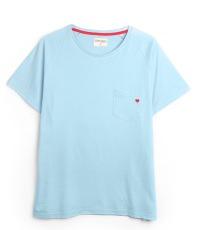 hellblaues Brusttaschen-T-Shirt Farbe Dream Blue