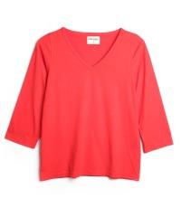 rotes Dreiviertelärmel-Shirt Farbe High Risk Red