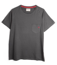 grey chest pocket T-shirt colour Asphalt